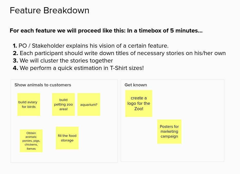 Improving the flow – User Stories im Feature Breakdown erstellen und schätzen