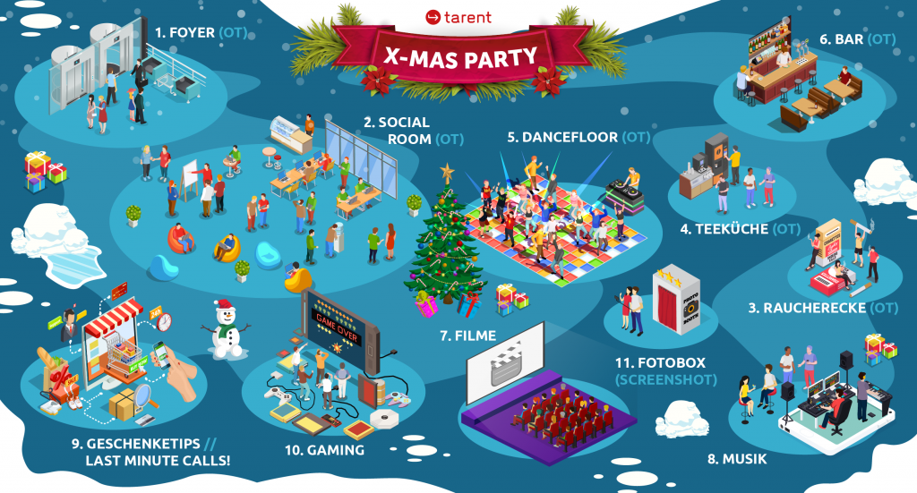 Die Karte unserer Weihnachtsfeier